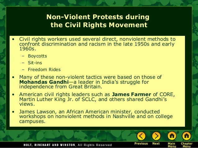 Non-violence Was Key to Civil Rights Movement