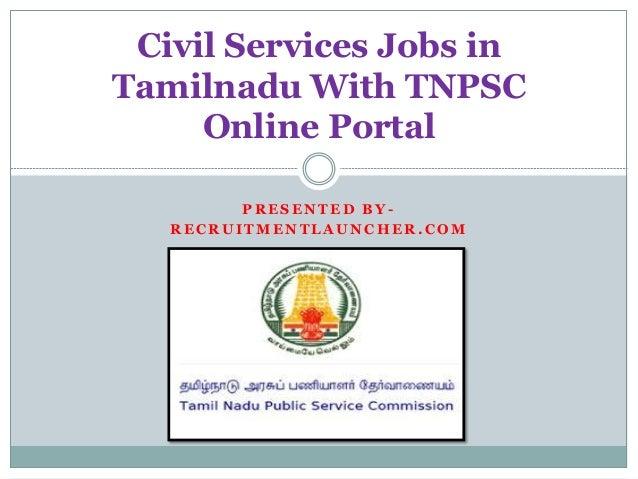 Civil Service Employment : Online jobs in tamilnadu