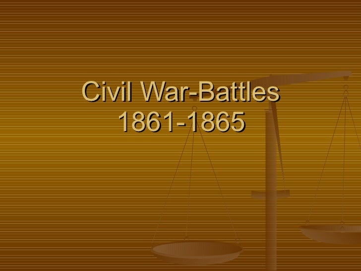 Civil War-Battles 1861-1865