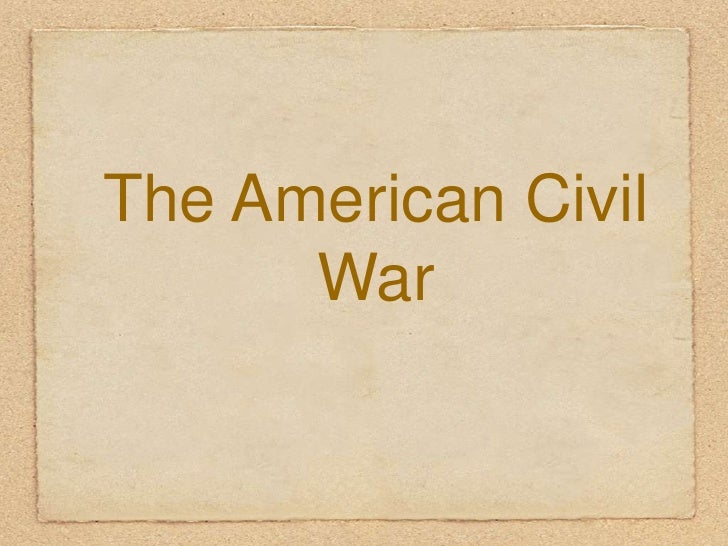 Civil war begining
