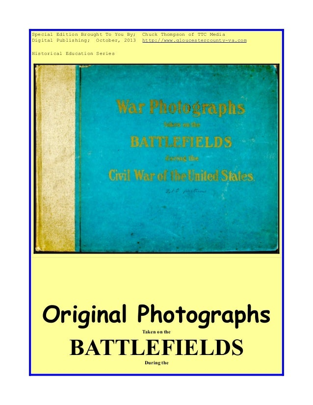 Civil War Photographs Book