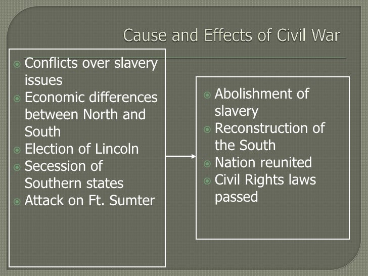 Cause and effect essay civil war