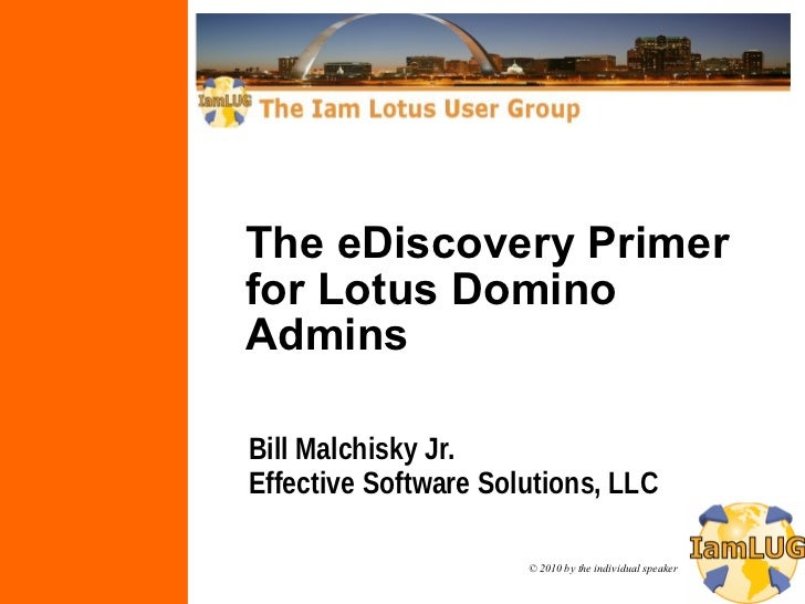The eDiscovery Primer for Lotus Domino Admins