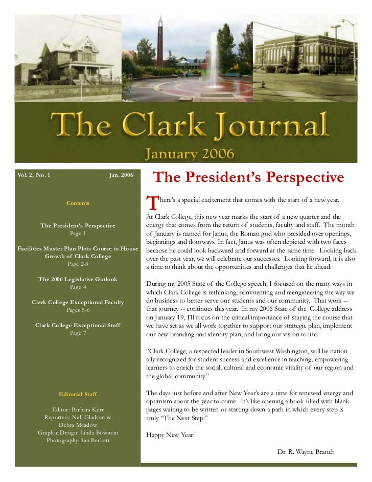 The Clark Journal  1-5-2006