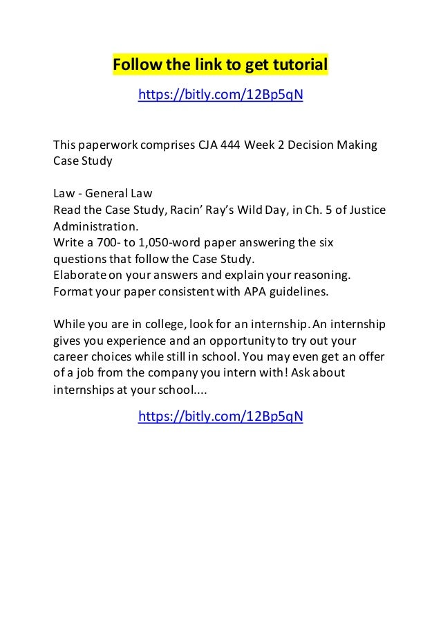 management analysis and decision making case study