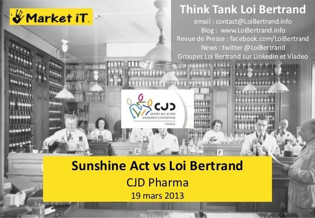 Sunshine Act vs Loi Bertrand