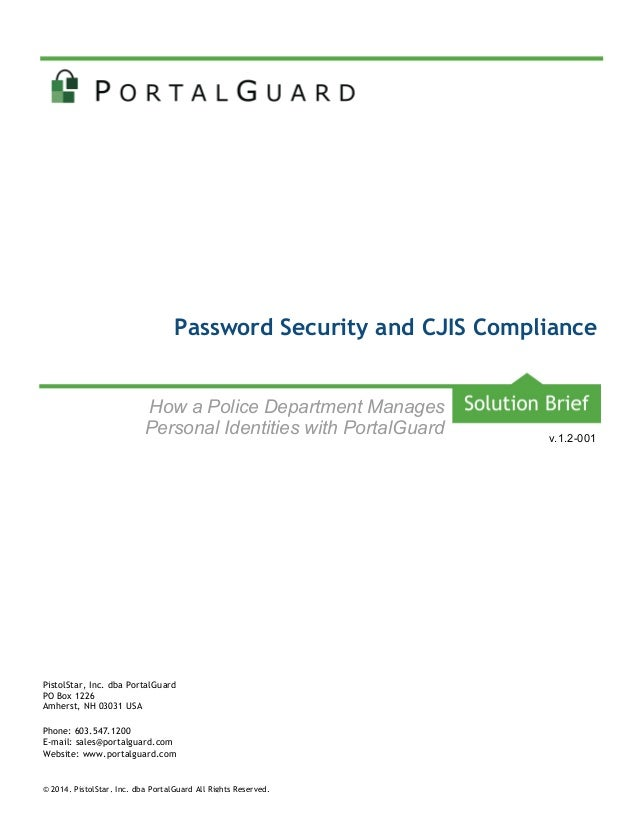Password Security and CJIS Compliance
