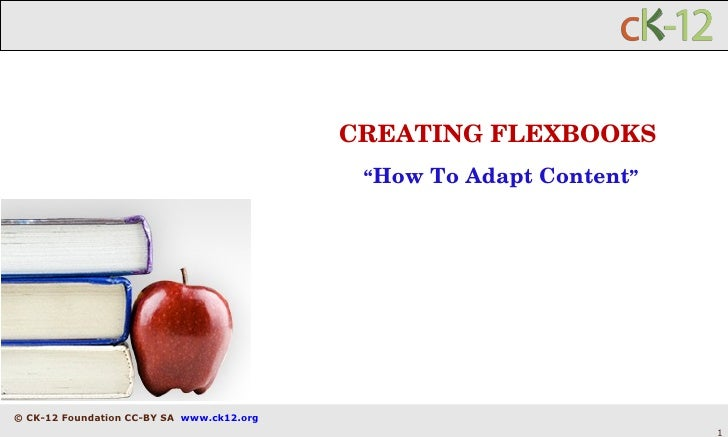 """CREATING FLEXBOOKS """" How To Adapt Content """""""
