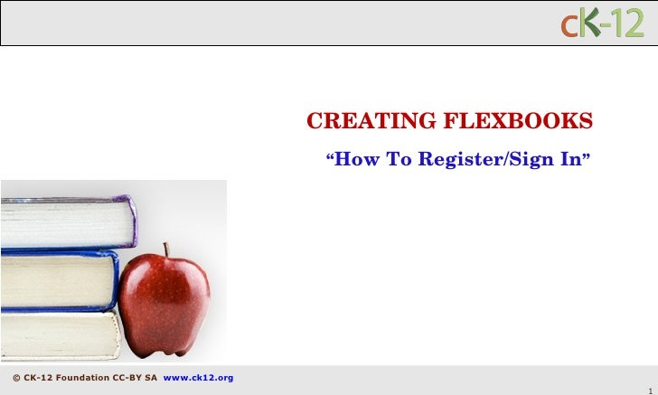 "CREATING FLEXBOOKS "" How To Register/Sign In """