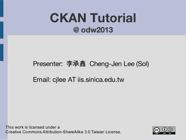 Ckan tutorial odw2013 131109