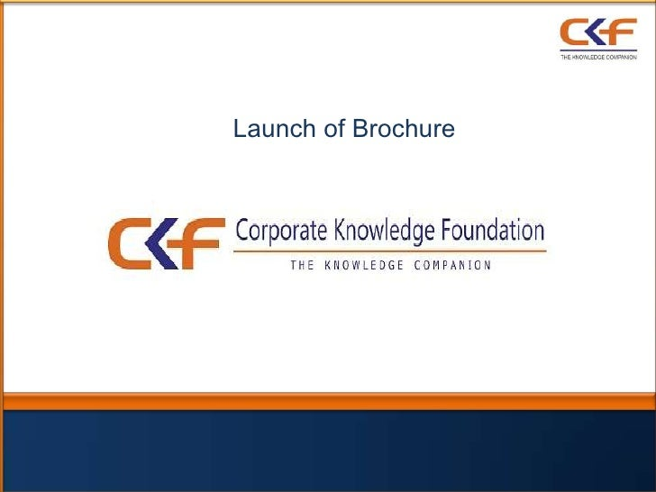 Corporate Knowledge Foundation - Brochure