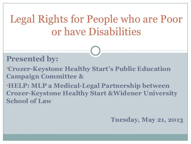 Presented by:•Crozer-Keystone Healthy Start's Public EducationCampaign Committee &•HELP: MLP a Medical-Legal Partnership b...