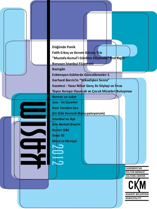 Caddebostan Kültür Merkezi Kasım Ayı Programı