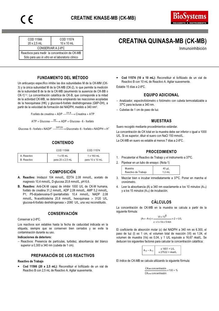 CREATINE KINASE-MB (CK-MB)              COD 11566           20 x 2,5 mL                                 COD 11574         ...