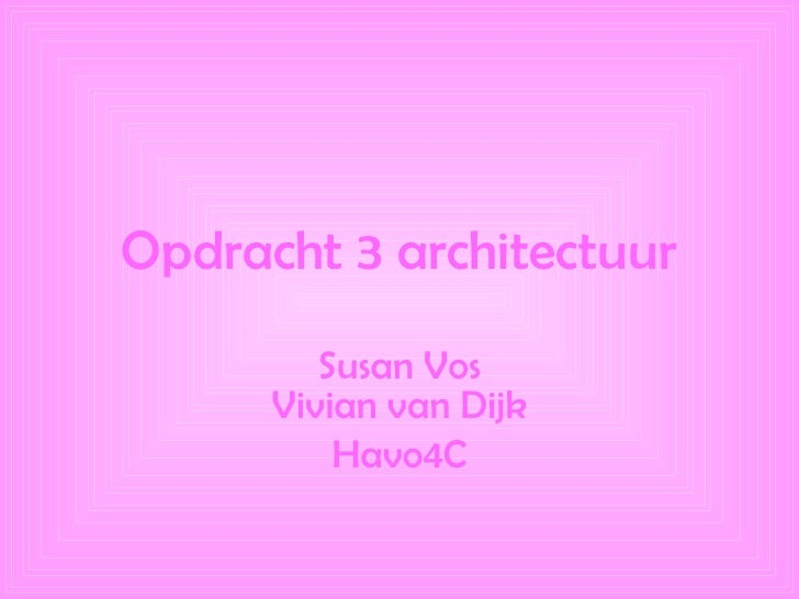 opdracht 2 architectuur