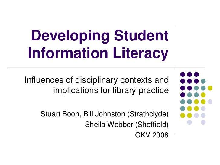 Developing Student Information Literacy