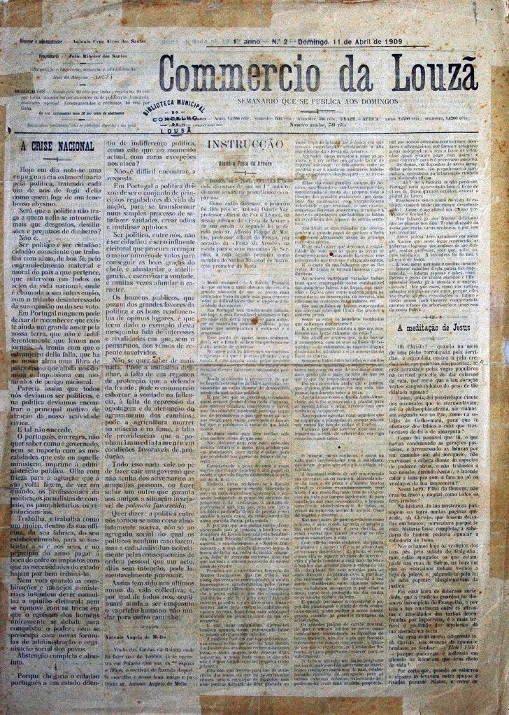 Commercio da Louzã n.º 2 – 11.04.1909