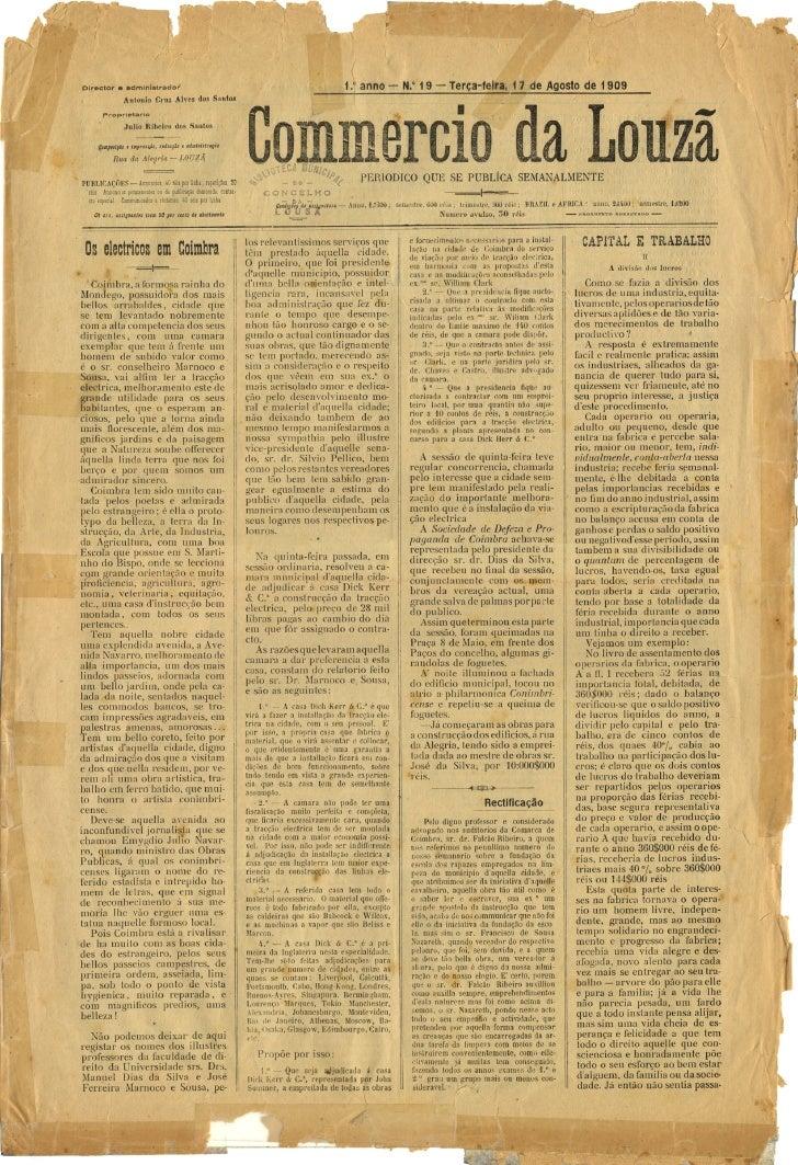 Commercio da Louzã n.º 19 – 17.08.1909