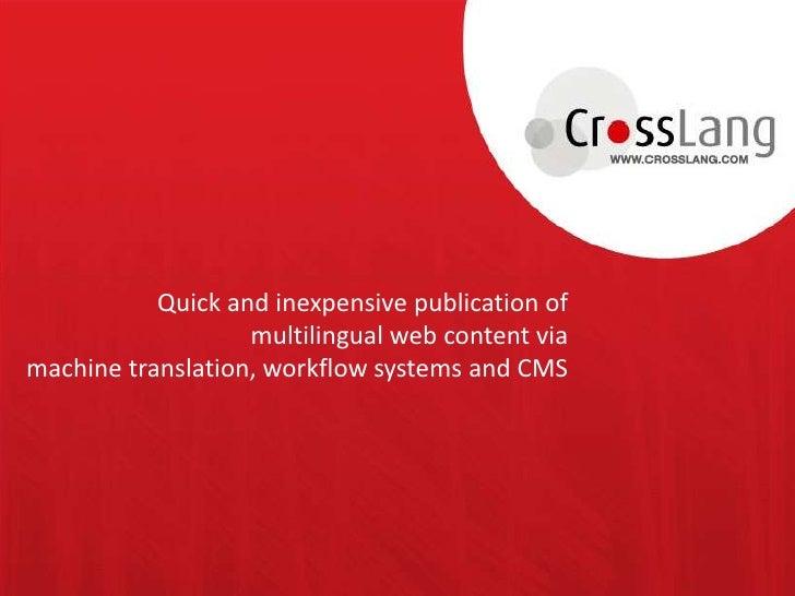 Managing multilingual webcontent