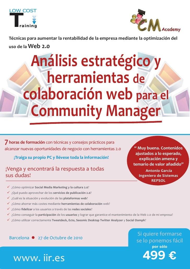 Análisis estratégico y herramientas de colaboración web para el Community Manager