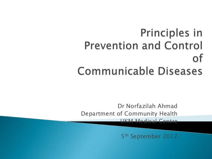 Cl 02 principles in control and prevention of communicable diseases