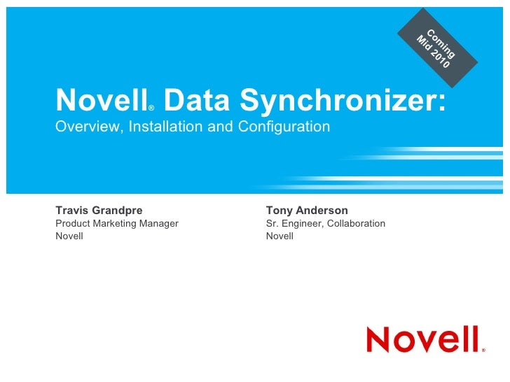 Novell Data Synchronizer: Overview, Installation and Configuration
