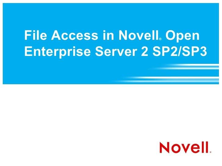 File Access in Novell Open Enterprise Server 2 SP2