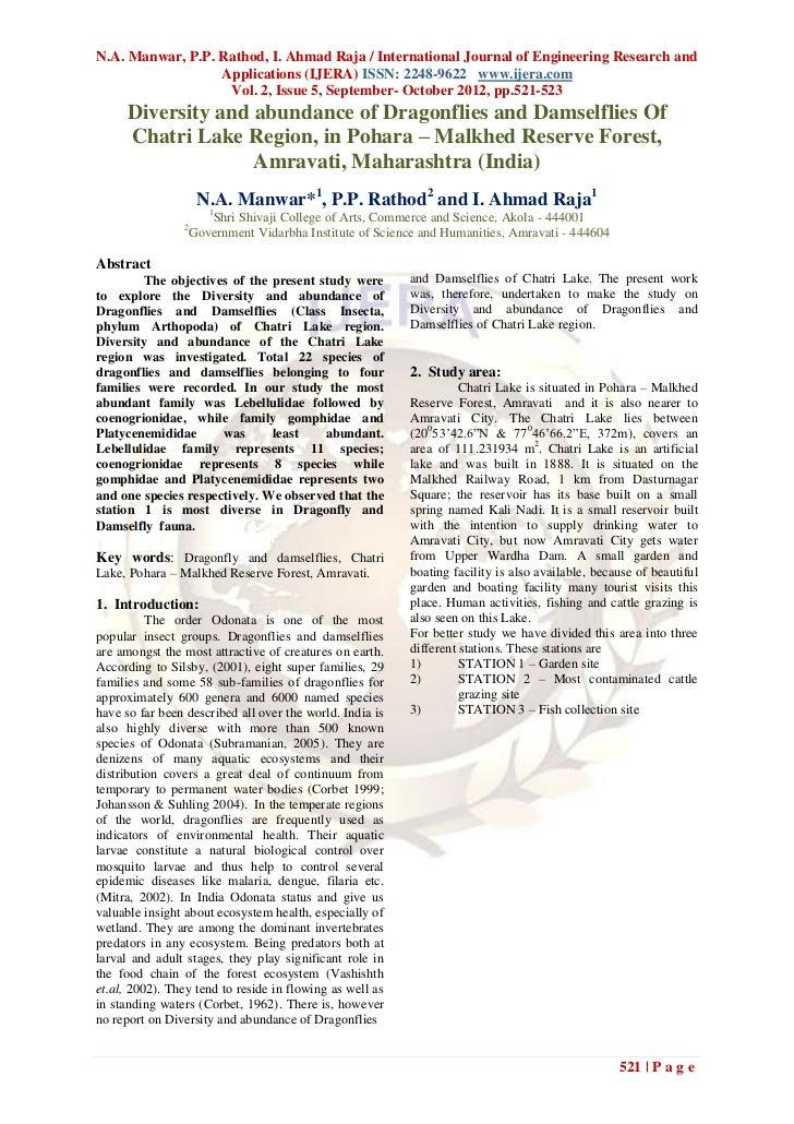 N.A. Manwar, P.P. Rathod, I. Ahmad Raja / International Journal of Engineering Research and                  Applications ...
