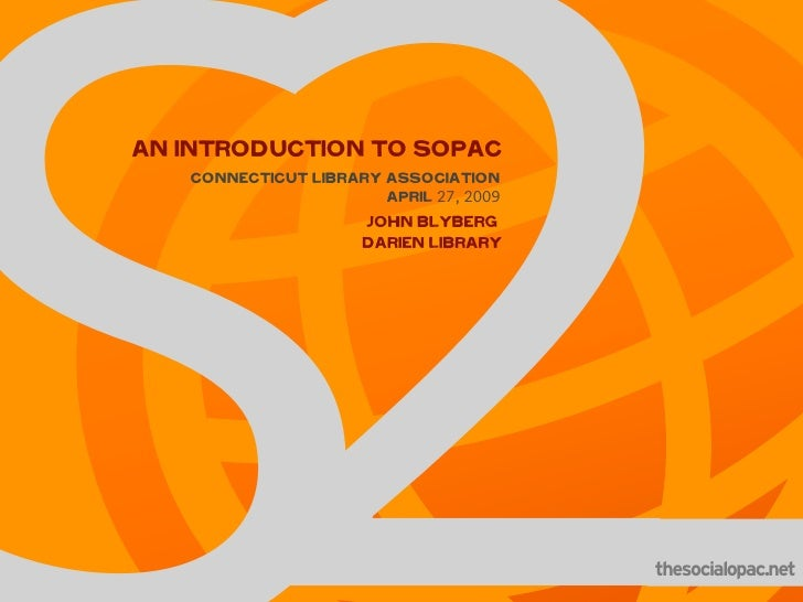 An Introduction to SOPAC