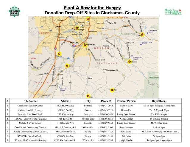 Plant a Row for the Hungry - Clackamas County, Oregon