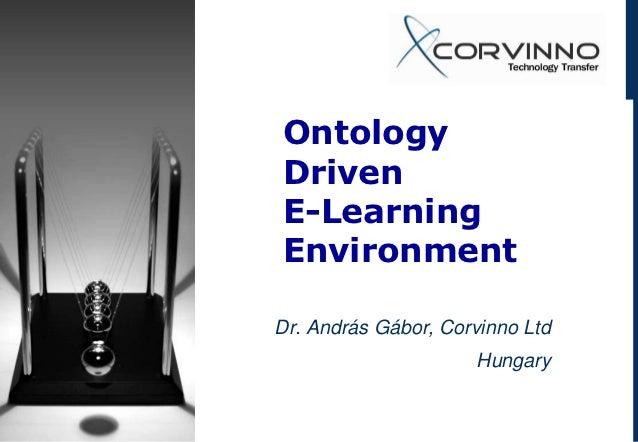 Ontology Driven E-Learning Environment