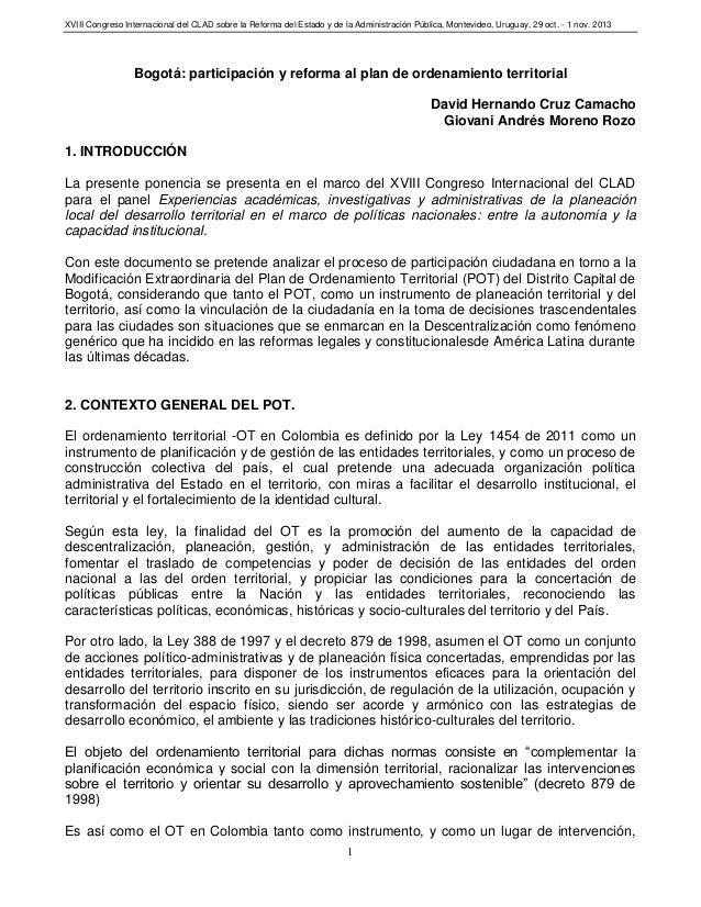 XVIII Congreso Internacional del CLAD sobre la Reforma del Estado y de la Administración Pública, Montevideo, Uruguay, 29 ...