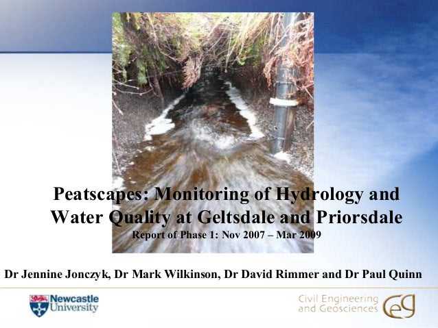 Peatscapes: Monitoring of Hydrology and       Water Quality at Geltsdale and Priorsdale                      Report of Pha...