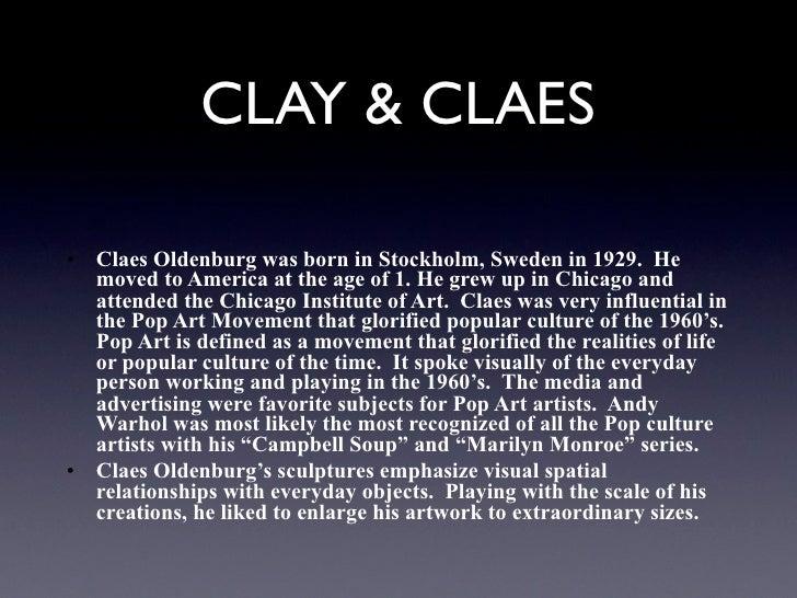 Claes oldenburg keynote