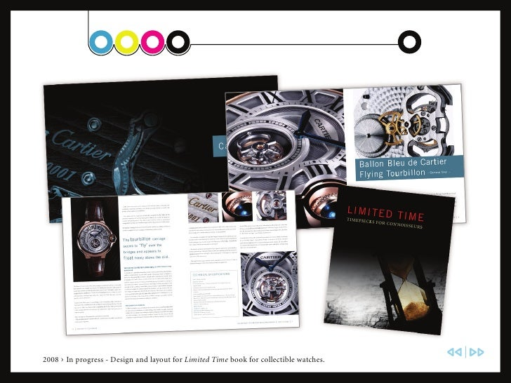 2008 › In progress - Design and layout for Limited Time book for collectible watches.
