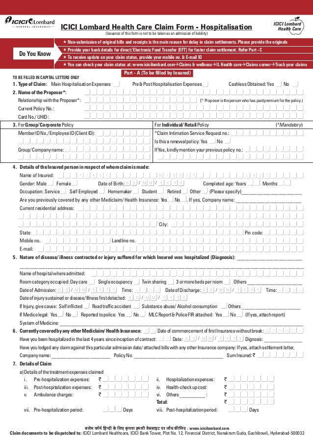 Claim form i_healthcare