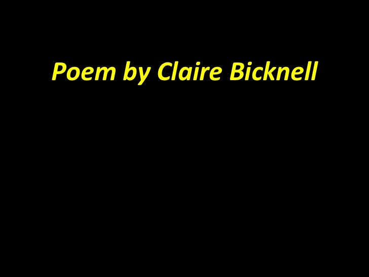 Poem by Claire Bicknell