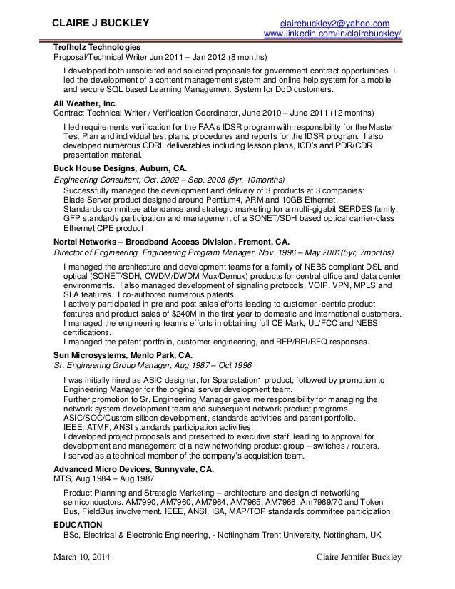 claire buckley resume