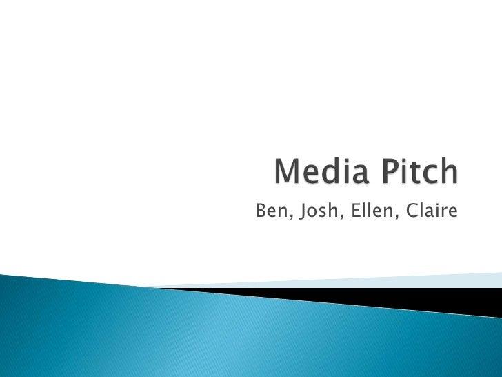 Claire dale ellen gibbons josh jones ben webb for Advertising agency pitch