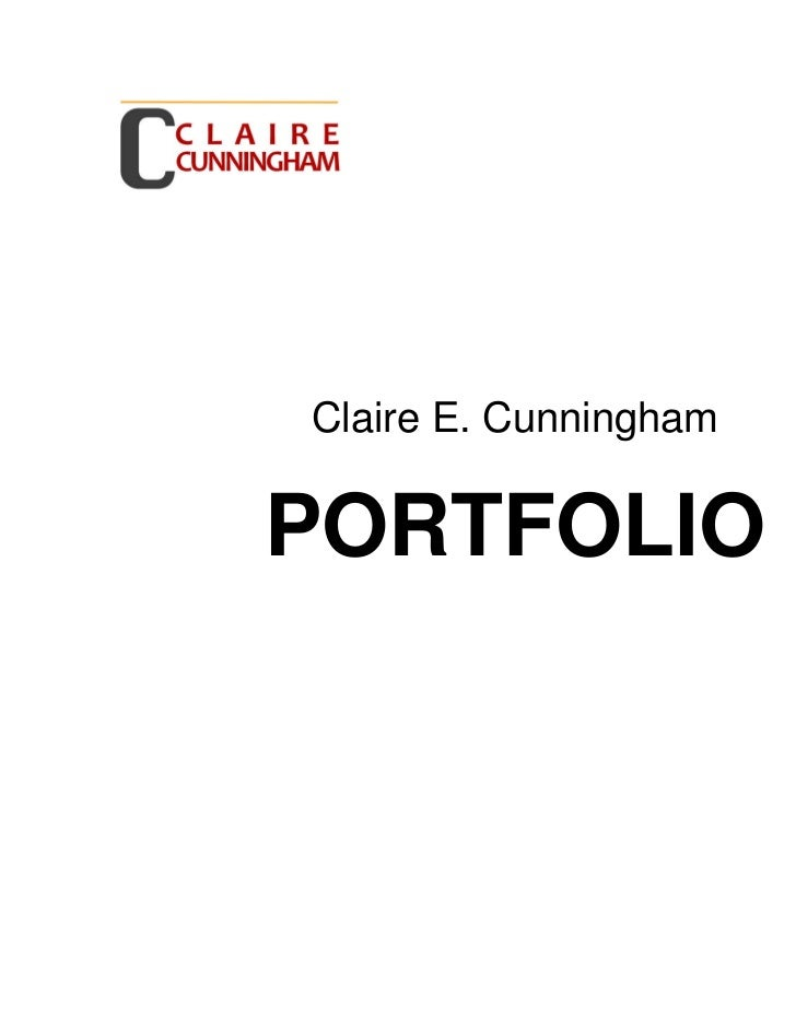 Claire e cunningham portfolio 4 4-11
