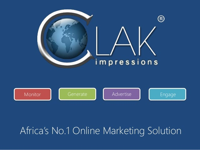 Africa's No.1 Online Marketing SolutionMonitor Generate Advertise Engage