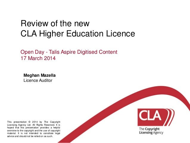Cla presentation   talis open day - march 14