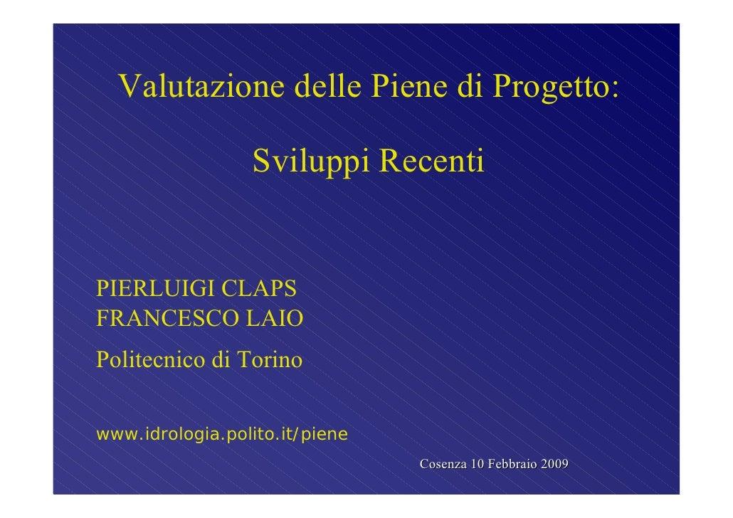 Claps -  Laio - Piene Piemonte 2009