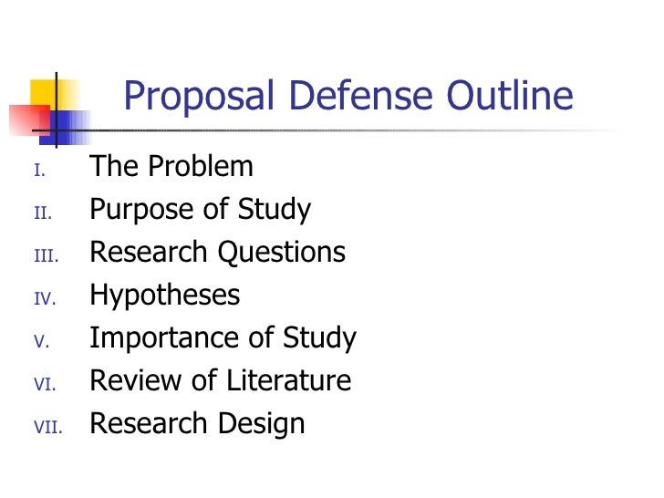 Preparing dissertation proposal defense