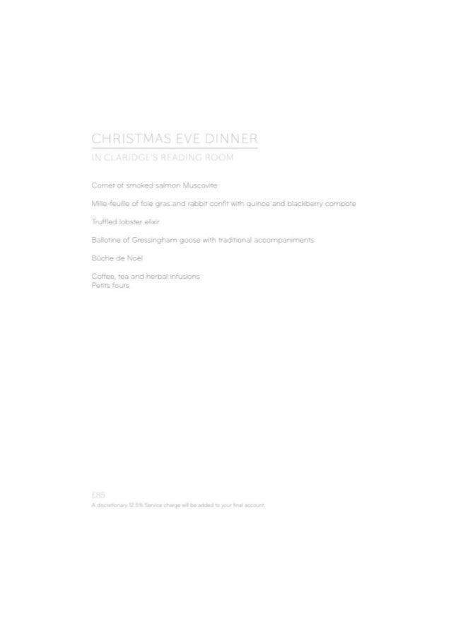 Claridge's christmas eve 2010
