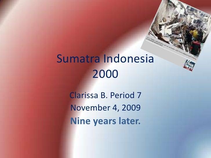 Sumatra Quake 2000