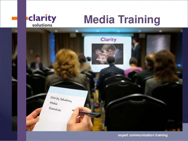 Media training with Clarity - Australia and Asia Pacific