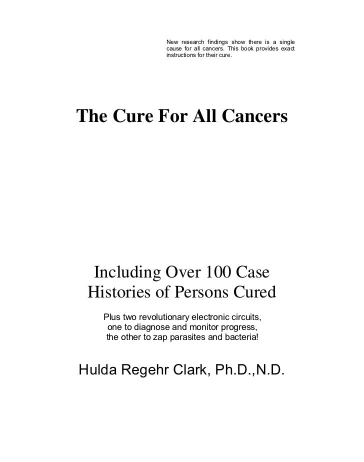 Clark, hulda   the cure for all cancers