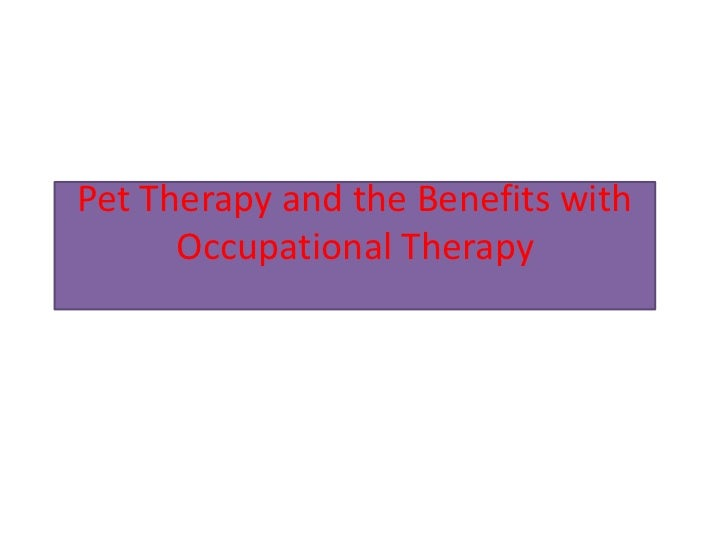 Pet Therapy and the Benefits with Occupational Therapy<br />
