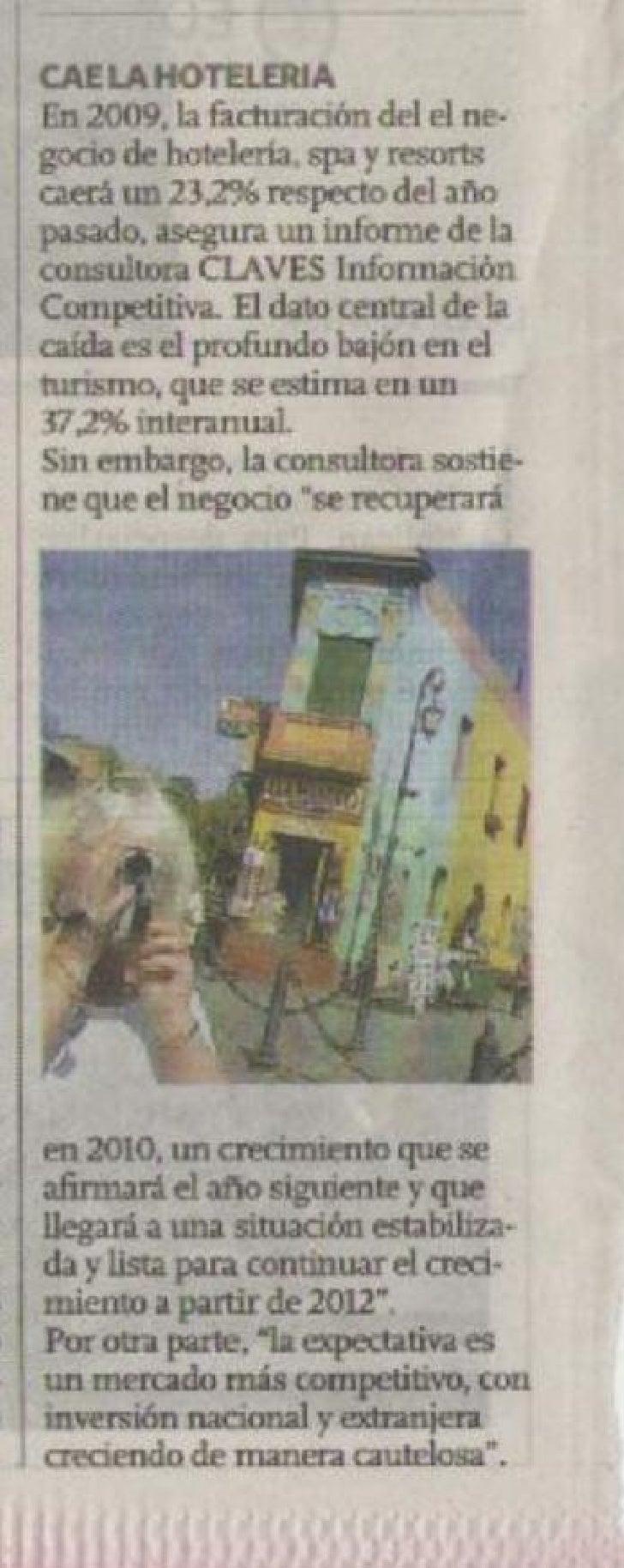 CAE LA HOTELERIA EN ARGENTINA
